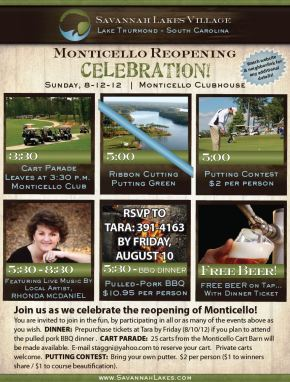 Monticello Golf Club reopening Celebration